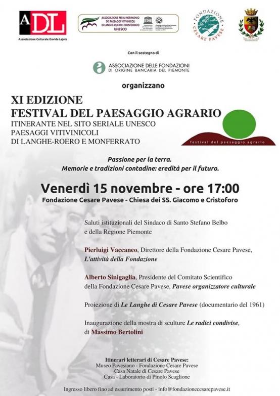 Alla Fondazione Cesare Pavese si parlerà di passione per la terra.