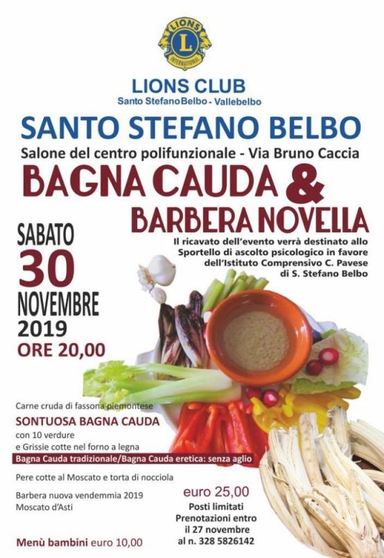 Bagna cauda con il Lions club di Santo Stefano Belbo.