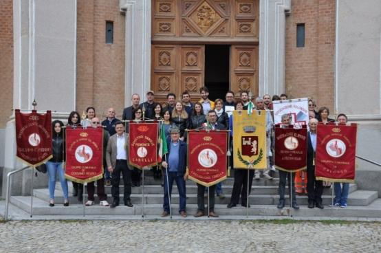 Festa dei donatori di sangue a Castiglione Tinella.