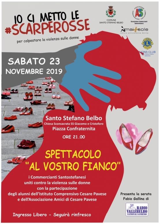 Serata contro la violenza sulle donne a Santo Stefano Belbo.