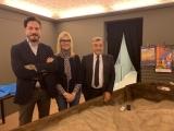 Pierluigi Vaccaneo, Laura Capra e Giuliano Viglione.